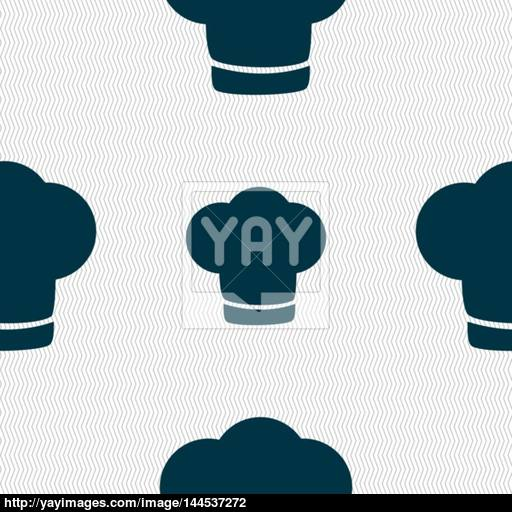 Chef Hat Sign Icon Cooking Symbol Cooks Hat Seamless Abstract