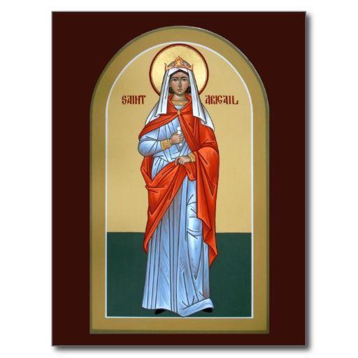 Saint Abigail Prayer Card Icons Saints, Orthodox Icons, Prayer