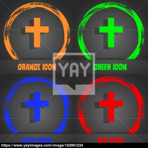 Religious Cross, Christian Icon Fashionable Modern Style