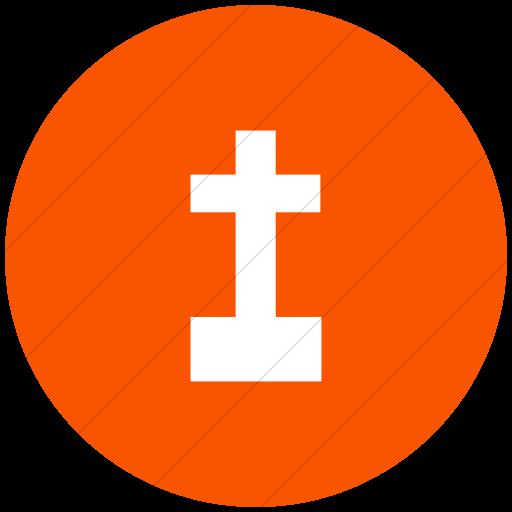Flat Circle White On Orange Ocha Humanitarians