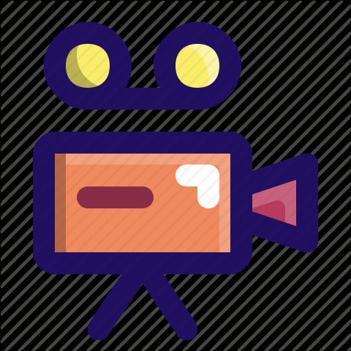 Camera, Cinema, Film, Movie, Shooting, Video Icon