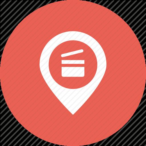 Cinema, Location, Map, Marker, Movie, Pin, Theatre Icon