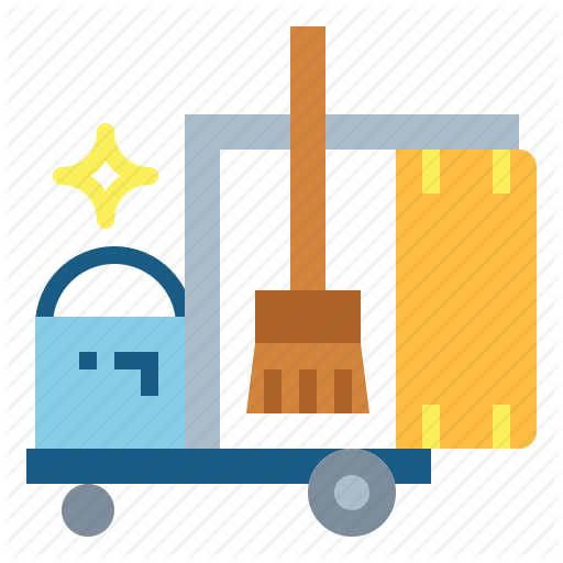 Cart, Clean, Cleaning, Hotel, Housekeeping Icon