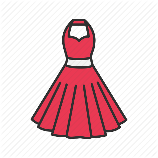 Clothing, Dress, Red Dress, Woman's Dress Icon
