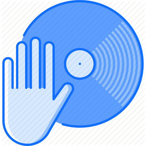Club, Dj, Hand, Music, Party, Record, Vinyl Icon