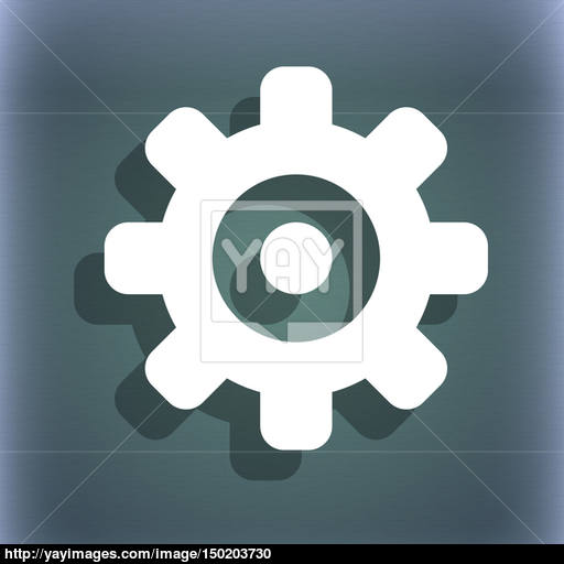Cog Settings, Cogwheel Gear Mechanism Icon Symbol On The Blue