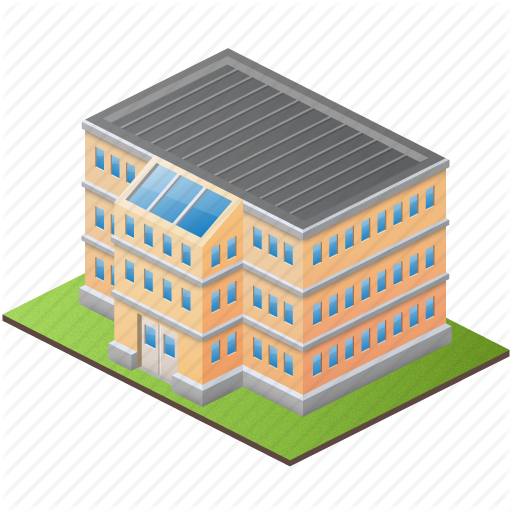 College Building Icon Images