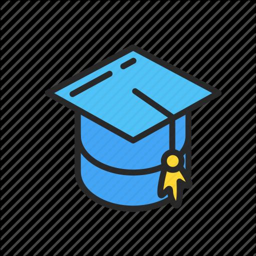 Cap, College, Graduate, Scholar, Student, University Icon