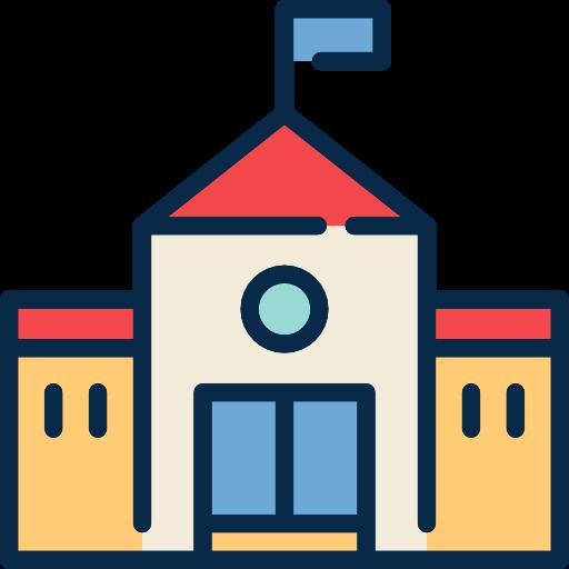 College, School, Education, High School, Buildings Icon