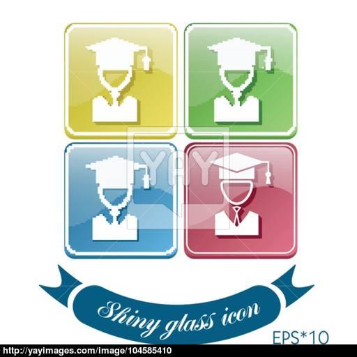 Graduate Hat Avatar Symbol Icon College Or Institute Graduation