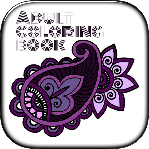Adult Coloring Abstract Floral Color Pages