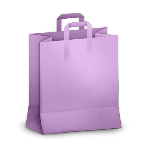 Paper Bag Purple Icon