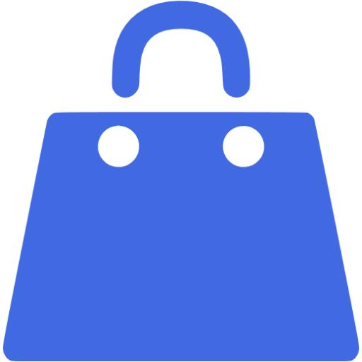 Royal Blue Shopping Bag Icon