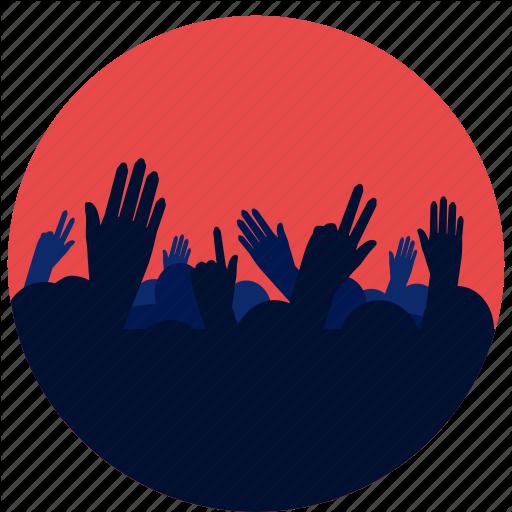 Concert, Crowd, Entertainment, Hands, Music Icon