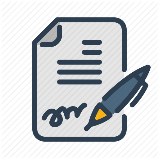 Agreement, Contract, Pen, Signature Icon