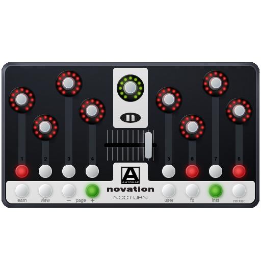 Controller, Midi, Nocturn, Novation Icon