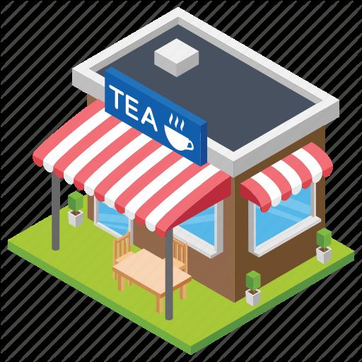 Cafe, Cafe Building, Coffee Corner, Coffee Shop, Tea Shop Icon