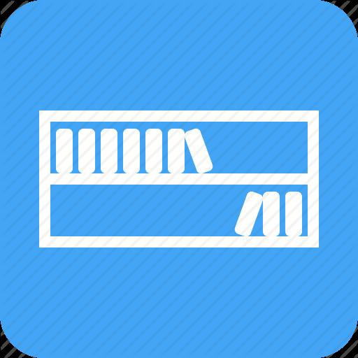 Book, Books, Bookshelf, Library, Shelf, Study, Wood Icon
