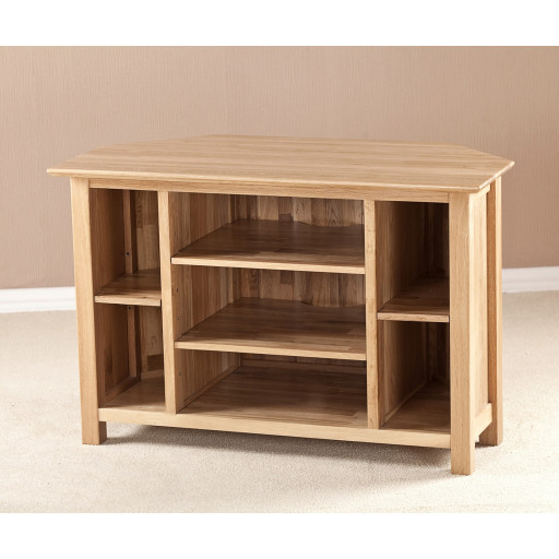 Montana Solid Oak Large Tv Unit With Glass Doors