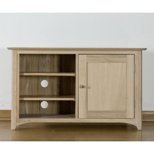Teslar Solid Oak Corner Video Unit