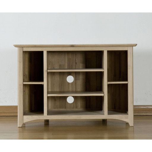 Teslar Solid Oak Standard Video Cabinet