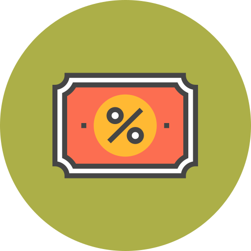 Discount, Coupon Icon Free Of Flat Line Ecommerce