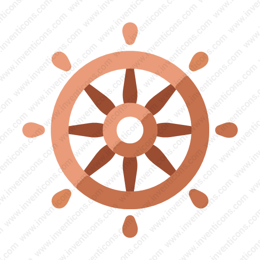 Download Ship,wheel Icon Inventicons