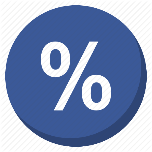 Cash, Currency, Darkblue, Money, Payment, Percent, Profit Icon