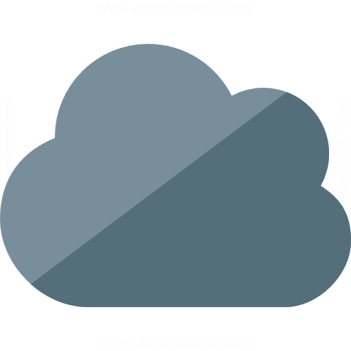 Iconexperience G Collection Cloud Dark Icon