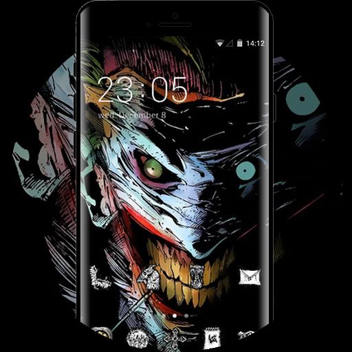 Skull Bone Theme Joker Dc Comics Art Wallpaper Free Android Theme