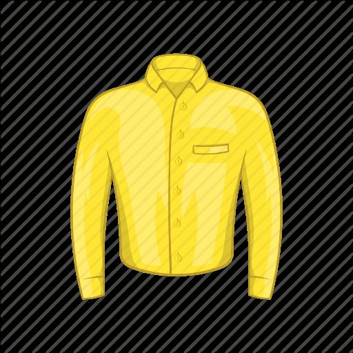 Cartoon, Cloth, Fashion, Man, Shirt, Sign, Yellow Icon
