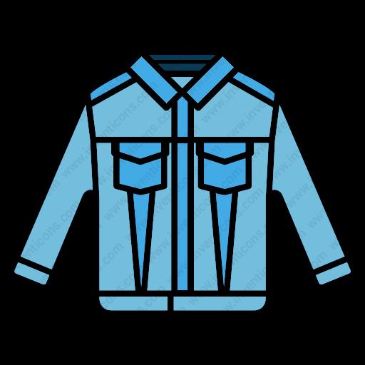 Download Jean,jacket Icon Inventicons