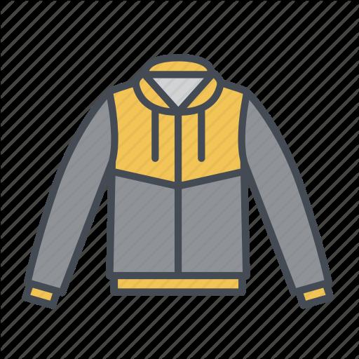 Jacket, Jersey Jacket, Rain Jacket, Windbreaker, Winter Wear Icon