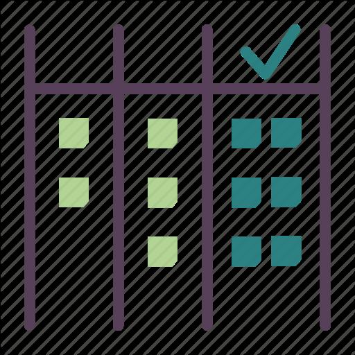 Agile, Cards, Checklist, Development, Done, Mark, Scrum Icon