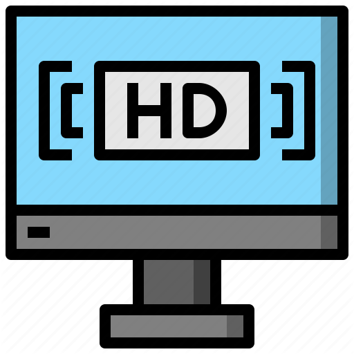 And, Hd, Multimedia, Music, Resolution, Tv, Ui Icon