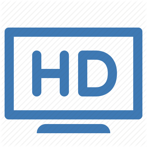Definition, Hd, High, High Definition, Television, Tv Icon
