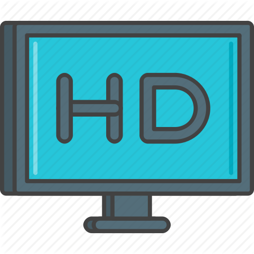 Film, Hd, High Definition, Monitor, Television, Tv Icon