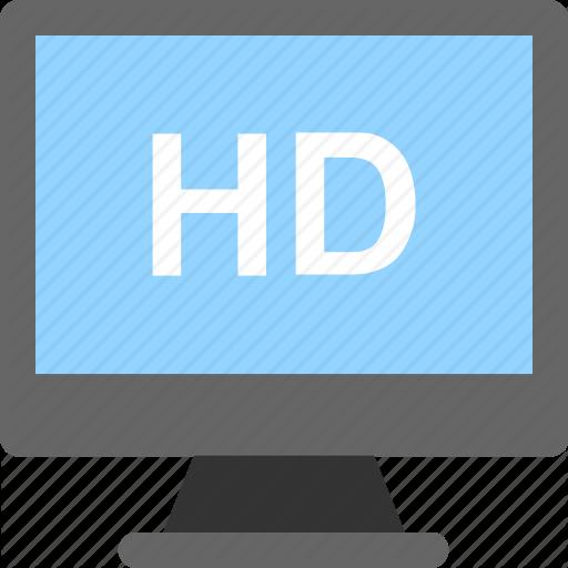 Hd, Hd Screen, High Definition, Monitor, Tv Icon