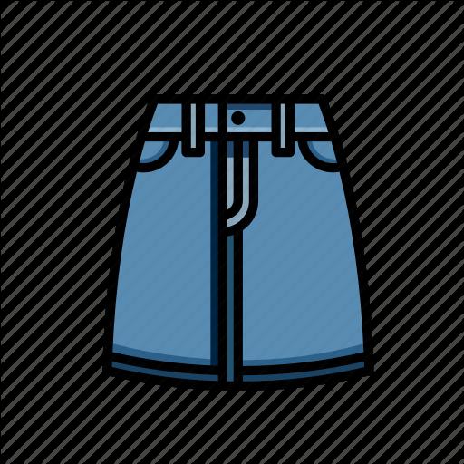 Denim, Festival, Skirt Icon