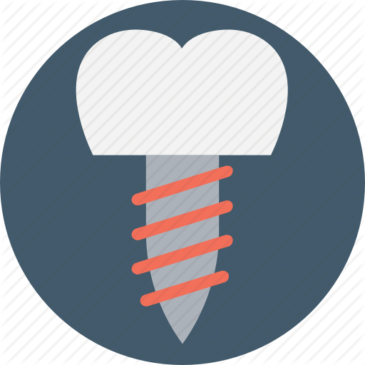 Dental Implant, Dental Procedure, Dental Treatment, Oral Surgery Icon