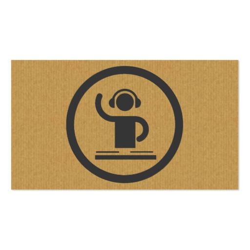 Dj Icon Business Card Templates Bizcardstudio