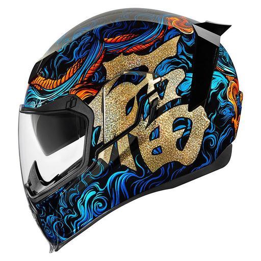Icon Airflite Helmet In Good Fortune Blue Hfx Motorsports