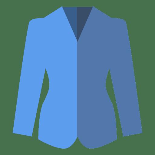 Flat Blue Blazer Clothing Icon