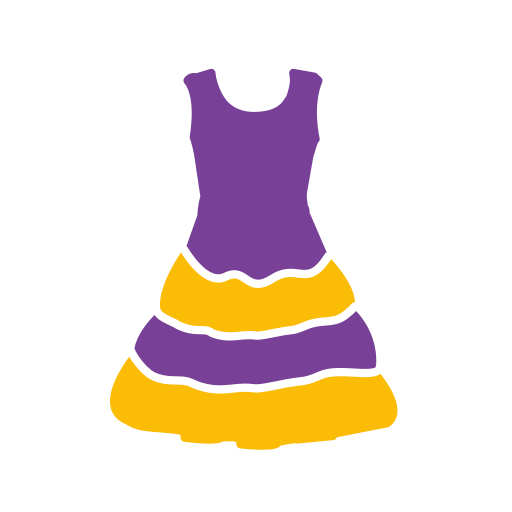 Woman's, Dress Icon Free Of Clothing Icons Colored