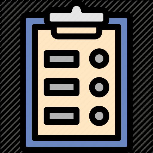 Clipboard, Driving, List, School Icon