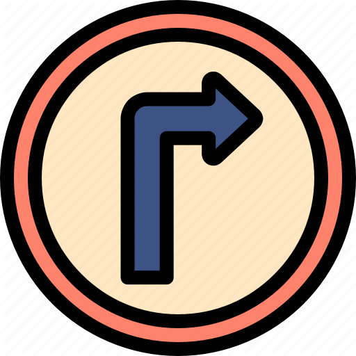 Driving, Right, School, Signage Icon