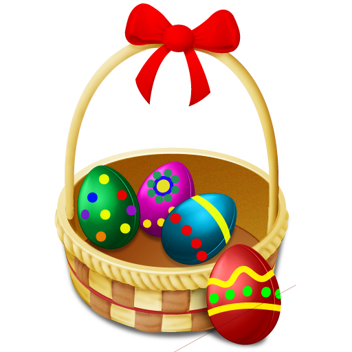 Basket, Easter, Eggs Icon