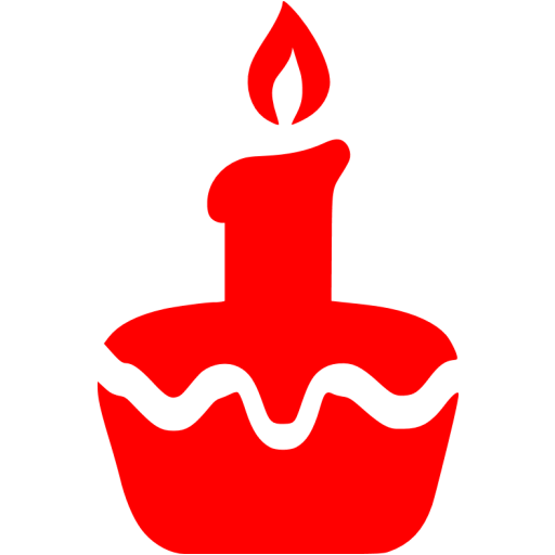 Red Easter Cake Icon