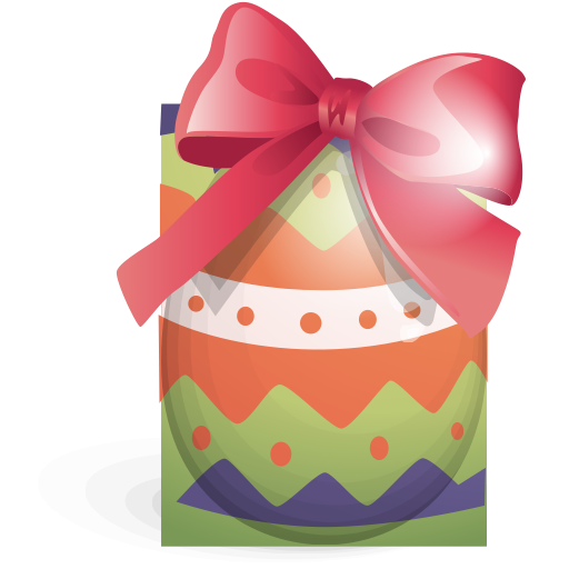 Ribbon, Easter, Green, Egg Icon