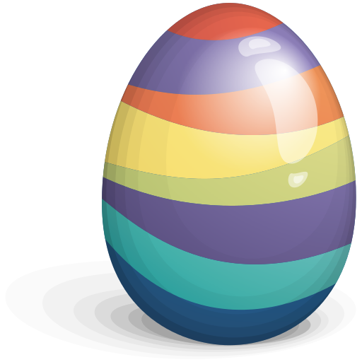 Easter Egg Color Stripes Icon Free Icons Download